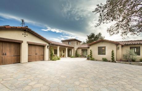 Friedenberg Entrance to Custom Home in Santa Barbara